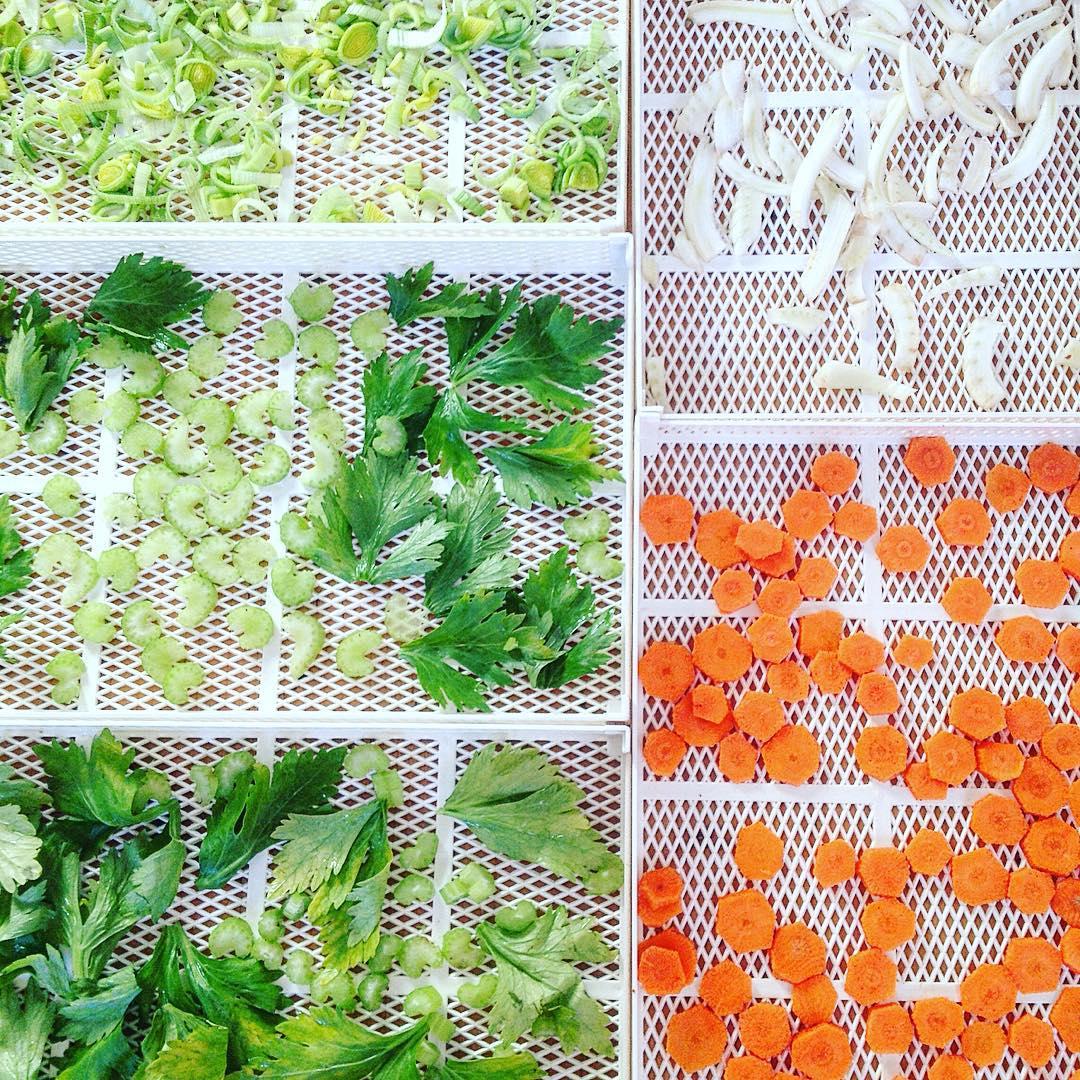 oggi si prepara il dado vegetale #homemade #vegetable #brodovegetale #vegan #essiccatore #essiccazione #carrot